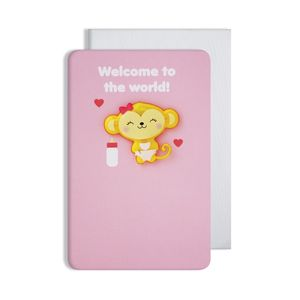 New Baby Girl Magnet Card