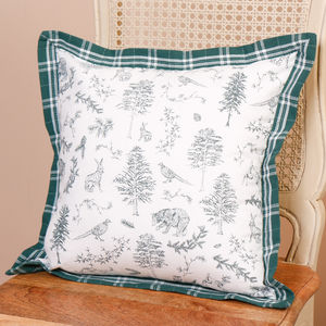Woodland Wildlife Forest Cushion Cover - cushions