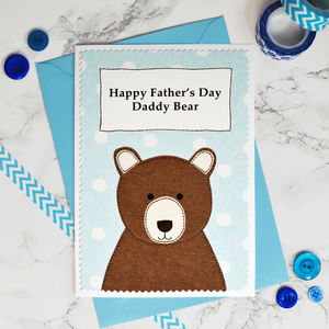 Personalised 'Daddy Bear' Father's Day Card