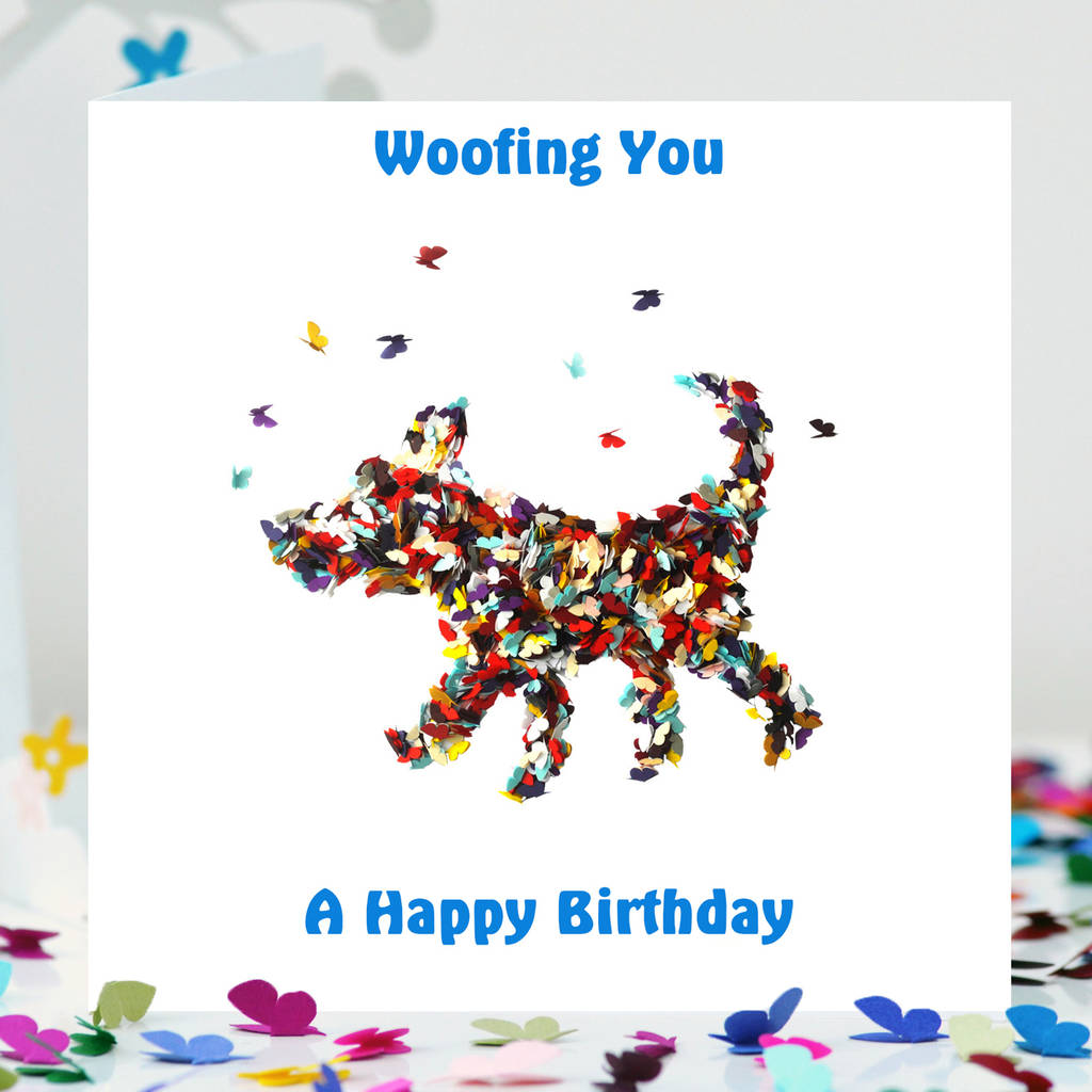 Dog Birthday Card Happy From Your