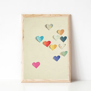 Paper Hearts Photographic Print