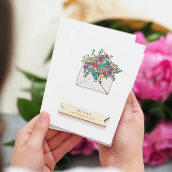 Personalised Flowers Appreciation Card
