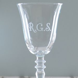 Personalised Initials Wine Glass