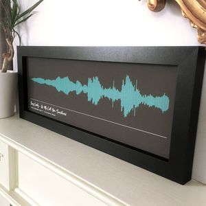 Personalised Framed Song Sound Wave Print - music