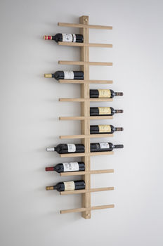 Woodstock Wine Rack In Raw Oak