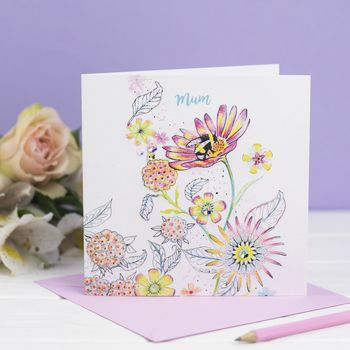 'Bumble Bee, Mum' Card