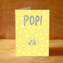 'Pop!' New Baby Card
