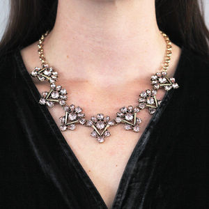 Vintage Style Rose Crystal Necklace - necklaces & pendants