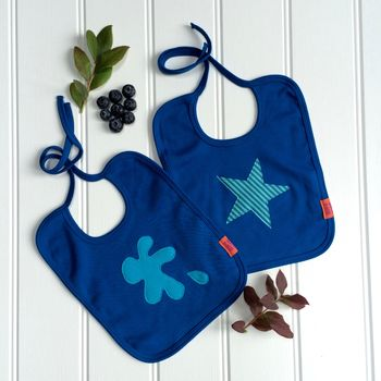 Splat And Star Blueberry Bib Set