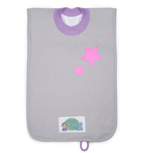 'Pocket' Toddler Bib Pink Stars