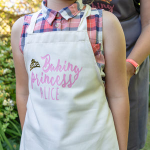 Personalised Baking Princess Apron - new in home
