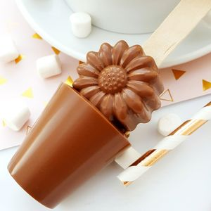 Mother's Day Daisy Hot Chocolate Spoon