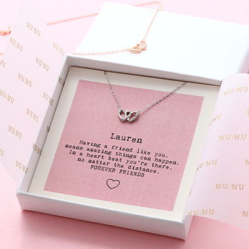 Forever Friend Joined Hearts Necklace