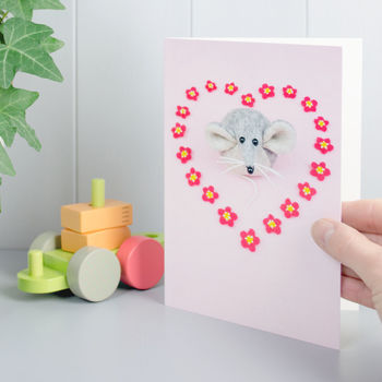 A New Baby Girl Mouse Greeting Card