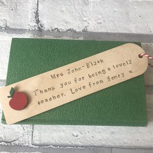 Personalised Thank You Teacher Book Mark