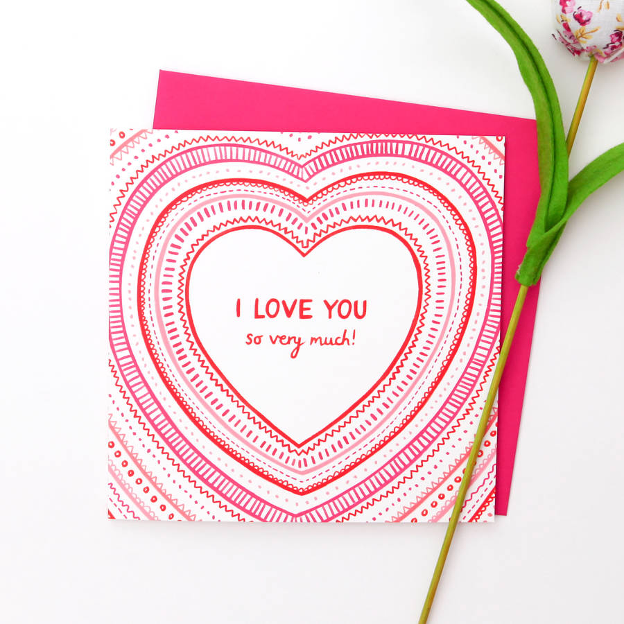 I Love You So Very Much Card By Emma Randall Illustration
