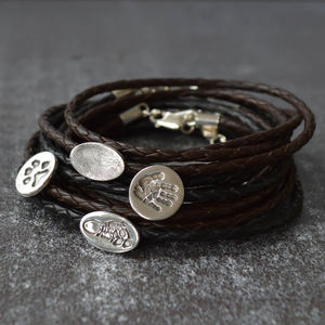 Men's Personalised Print Wrap Bracelet