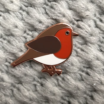 Robin Enamel Pin Badge
