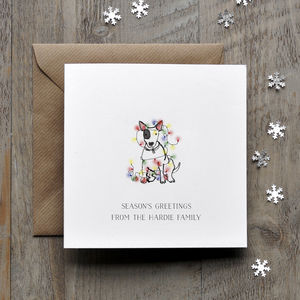 English Bull Terrier Christmas Card