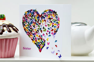 Kaleidoscope Butterfly Sister Card