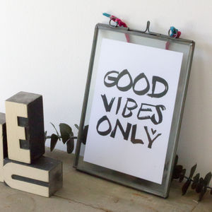 Good Vibes Only Postcard - typography
