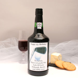 Personalised Port Gift With Golf Label