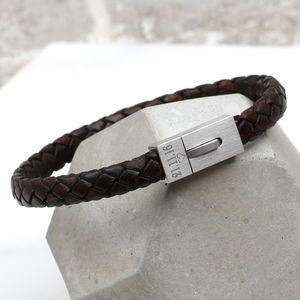 Men's Personalised Contemporary Clasp Bracelet