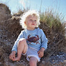 Children's Organic Cotton Sweatshirt Crab Design