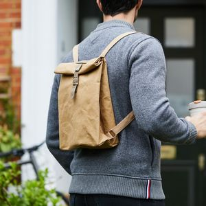 Brown Paper Style Rucksack - mindful living