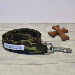 Green And Black Camouflage Military Dog Lead - new in pets