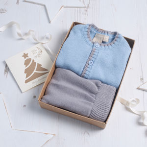 Baby Boy Knitted Cardigan And Pant Set - jumpers & cardigans