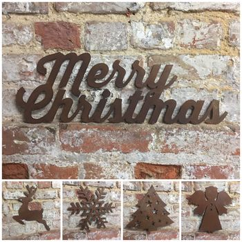 Rusted Metal Christmas Decorations