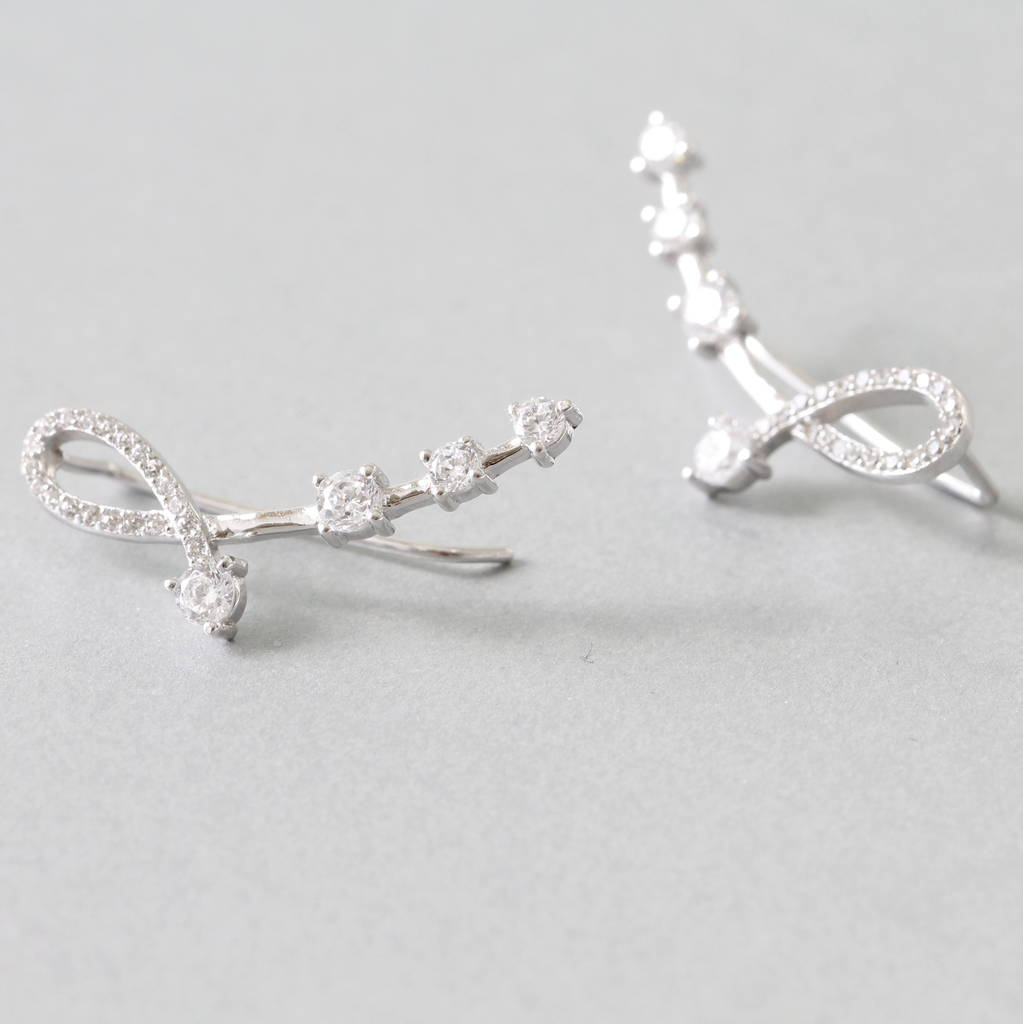 sterling silver music note earrings climber by attic. Black Bedroom Furniture Sets. Home Design Ideas