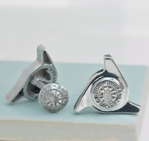 Original Borrani Wheel Three Ear Spinner Cufflinks - new in jewellery