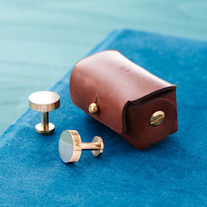 Personalised Solid Bronze Cufflinks - gifts for fathers