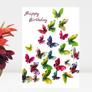 Butterfly Birthday Card, Birthday Butterflies Card