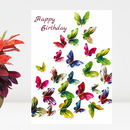 Happy Birthday Butterfly Card 'Closer Than You Know'