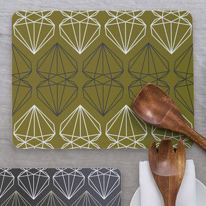 Iconic Collection Large Placemat, Olive Green - placemats & coasters