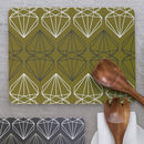 Iconic Collection Large Placemat, Olive Green