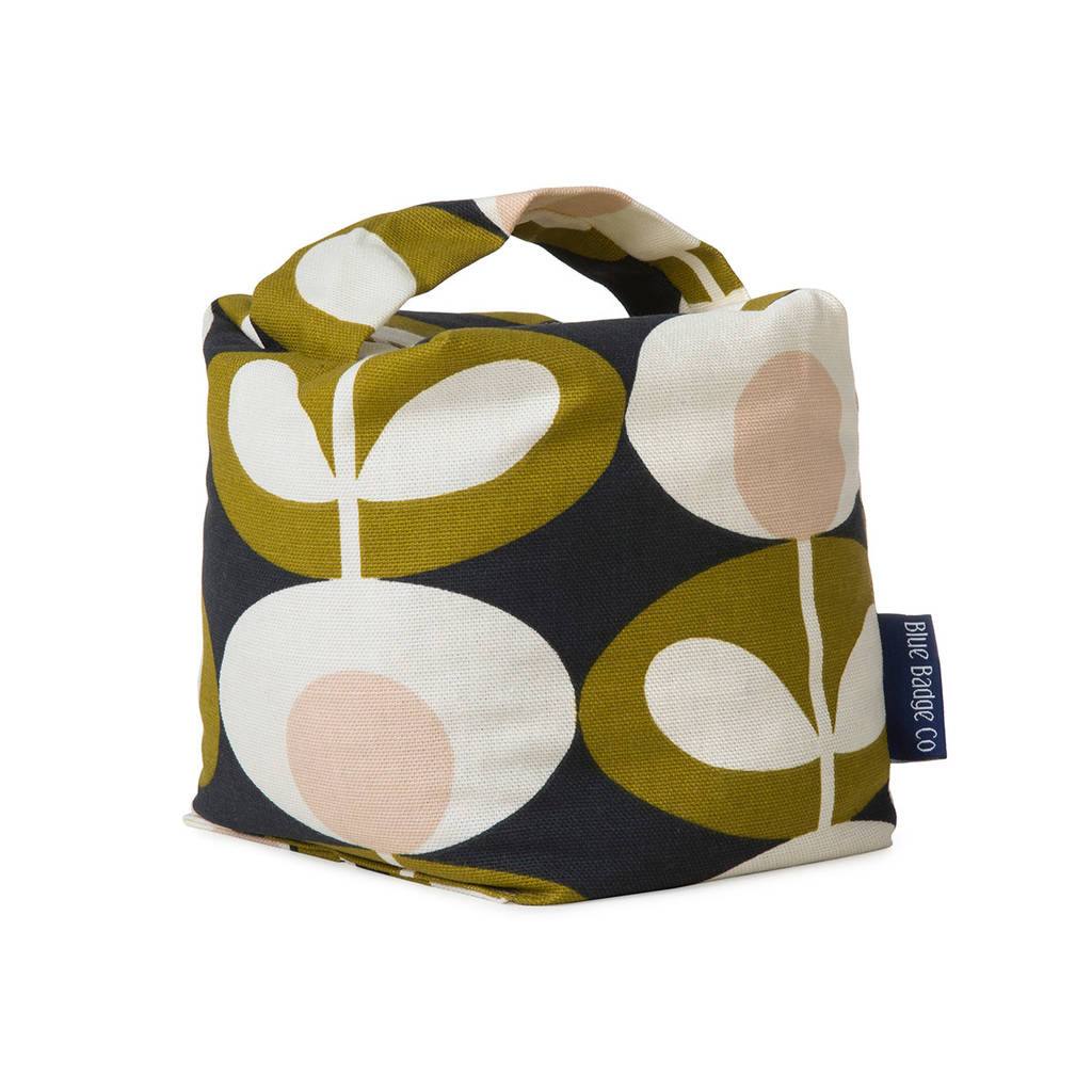 Fabric Door Stop In Orla Kiely Seagrass By Blue Badge Co