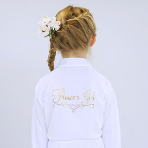 Personalised Wedding Dressing Gown For A Flower Girl