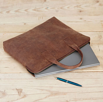 Handmade Buffalo Leather 15 Inch Laptop Case