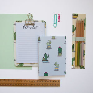 Cactus Clipboard Stationery Set - gifts for teenagers