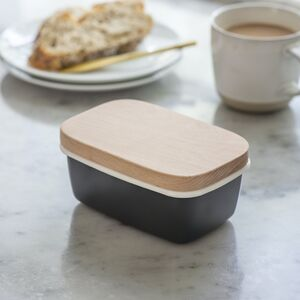 Butter Dish With Beech Lid