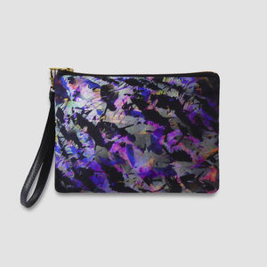 Purple Bag With Abstract Design