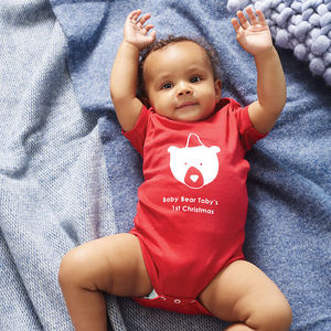 Baby Bears One St Christmas Baby Grow - shop by occasion