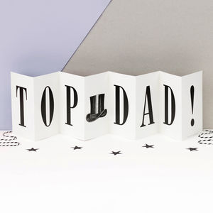 Birthday Card For Dad Personalised 'Top Dad' Concertina