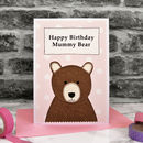 Personalised 'Mummy Bear' Birthday Card