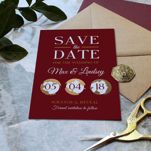 Full Colour Scratch Off Wedding Save The Date - wedding wedmin