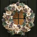 Country Christmas Natural Door Wreath